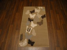 Modern Aprox 4x2 60cmx110cm Novelty Butterflys New Rug Woven Backed Cream/Beige